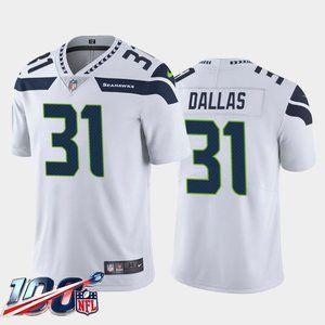Seattle Seahawks DeeJay Dallas White Jersey